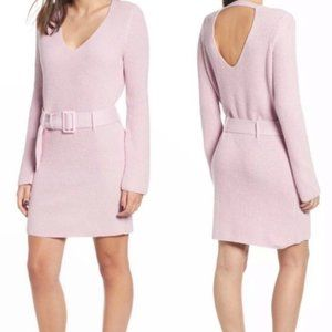 NWT Leith Belted Sweater Pink Dress size Small